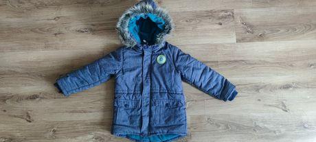 Kurtka zimowa chłopięca, Pepco,rozmiar 116, plus spodnie narciarskie