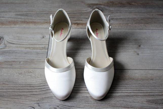 Buty ślubne z satyny, Rainbow Club, rozmiar 40, nowe