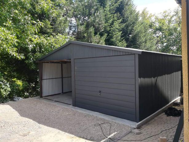 Garaż blaszany blaszak 6x5 Grafit solidny
