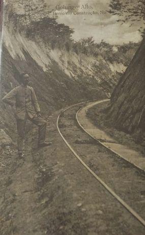 Postal Golungo Alto. Caminho de Ferro, Angola