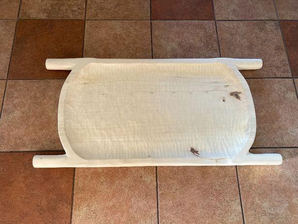 Koryto drewniane misa taca do serwowania posiłków