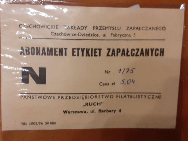 Abonament etykiet zapałczanych 1/75-kolekcja