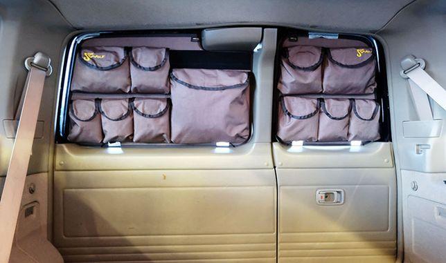 Organizer wyprawowy na tylne szyby made by She-wolf: Nissan Patrol Y61