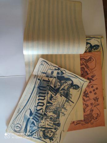 Cadernos escolares vintage