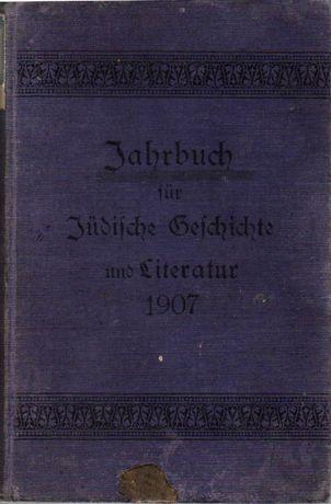 Jahrbuch für Jüdische Geschichte und Literatur 1907