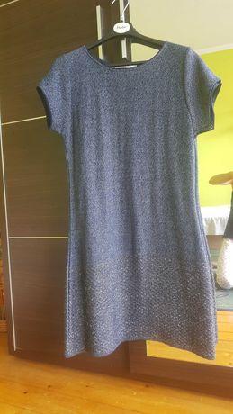 Granatowa sukienka Quiosque, dzianinowa rozm. 44