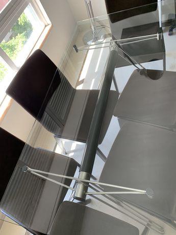 Mesa de vidro com base extensivel. Para sala ou escritório