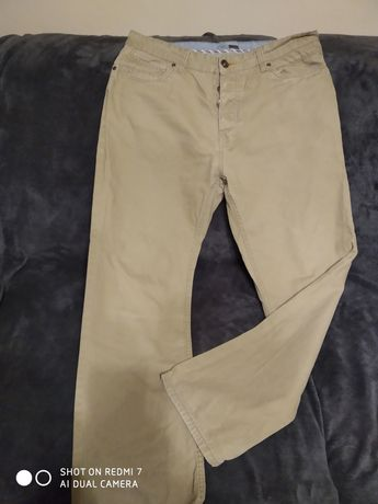 Spodnie beżowe męskie