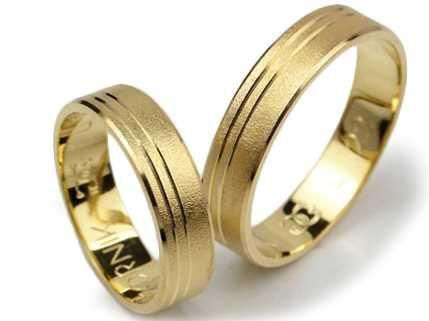 Złote Obrączki Ślubne pr. 585, L122 - Jubiler Goldrun CHORZÓW