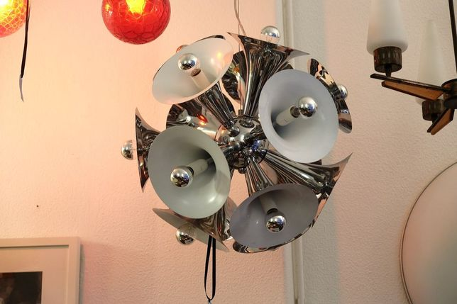 candeeiro space age sputink trombone. (tenho dois)