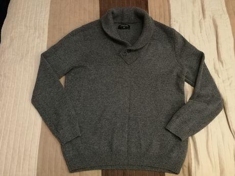 Sweter szary półgolf w serek XL NOWY Reserved