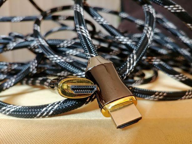 HDMI 4K GOLD przewód kabel 15 m w oplocie