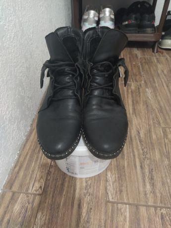 Кожаные ботинки zara, h&m, mango