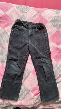 Spodnie  sztruksy dla chłopca