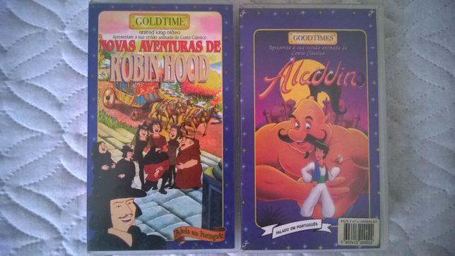 VHS Aladdin e Robin Hood dobrados em português de Portugal