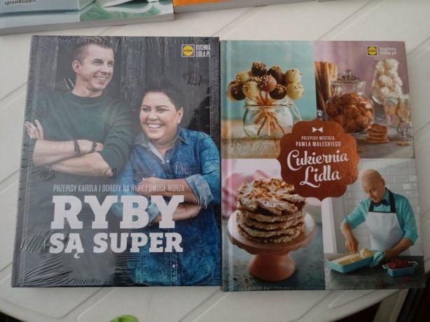 Książki kuchnia Lidla 20 zł za dwie sztuki