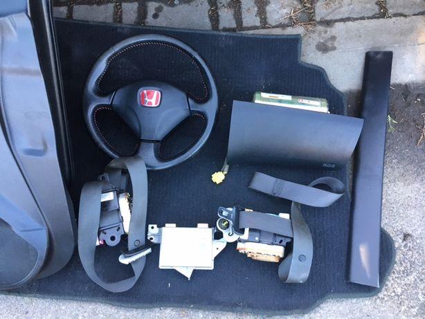 Honda Civic VII 2.0 Type R 2001- Poduszki Air bag SRS Europa