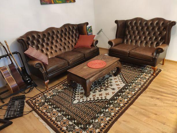 Brązowy Stolik kawowy ława masywny lite drewno palisander 100x50x39