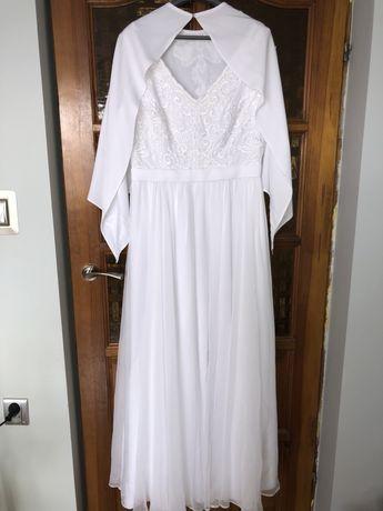 Śnieżnobiała suknia ślubna jak nowa!