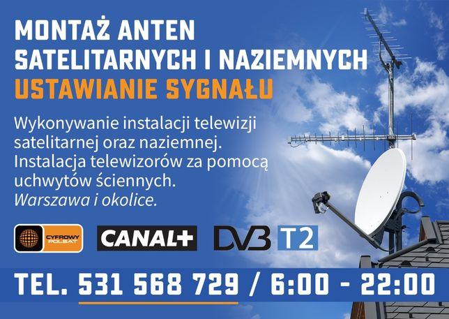 Montaż i ustawianie anten satelitarnych i naziemnych