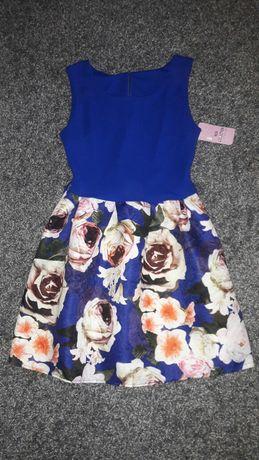 Nowa sukienka z metką kwiaty roz 36