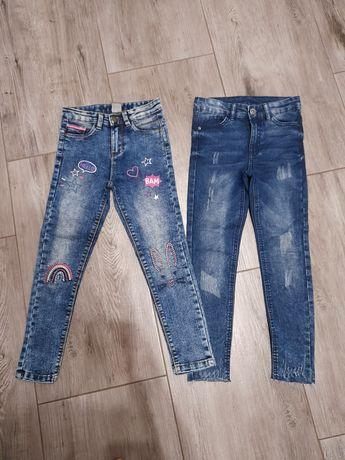 Spodnie dżinsowe  r 122/128