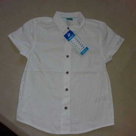 Nowa biała koszula chlopieca 122