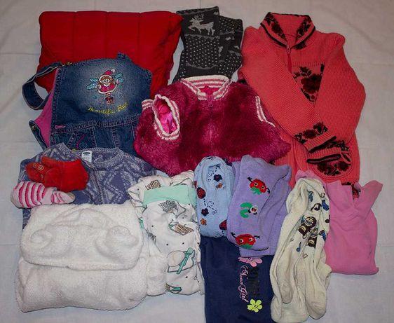 Пакет теплой одежды для девочки. На 2-3 года