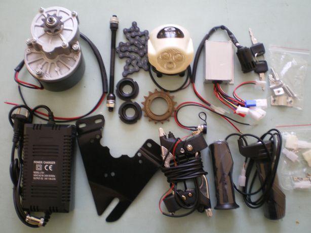 Silnik elektryczny do roweru z zestawem części