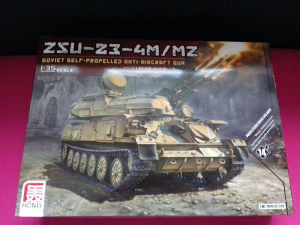 ZSU 23 4m/mz soviet anti aircraft gun 1:35 HONG