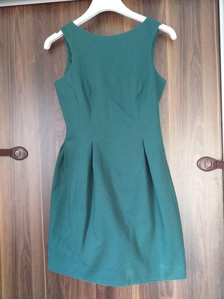 Sukienka Mohito 36 butelkowa zieleń piękna