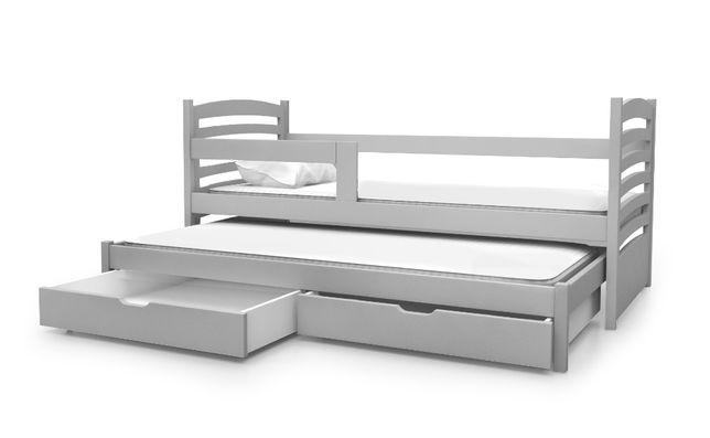 Łóżko 2-poziomowe OLI z szufladami. Materace GRATIS !