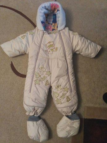Комбинезон детский для новорожденого осень зима 2в1