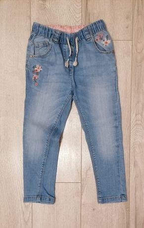 Next 98 jak nowe spodnie jeansowe jeansy