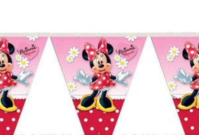 Гирлянда-флажки праздничная Минни Маус для девочки