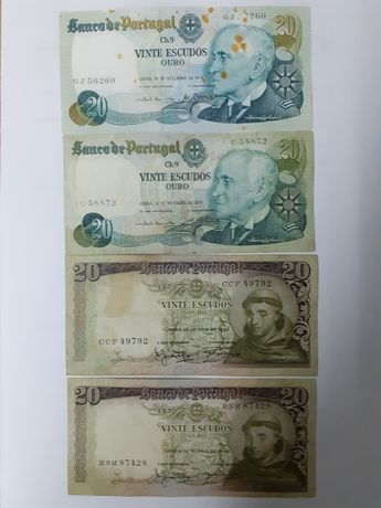 Notas de 20$000 variadas.