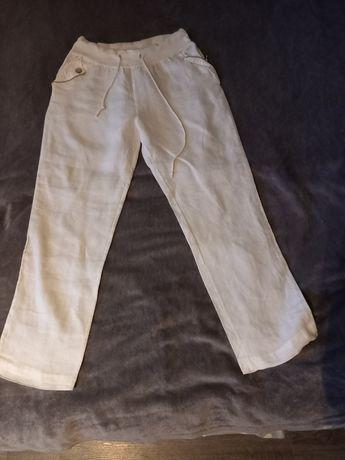 Biale spodnie damskie XL