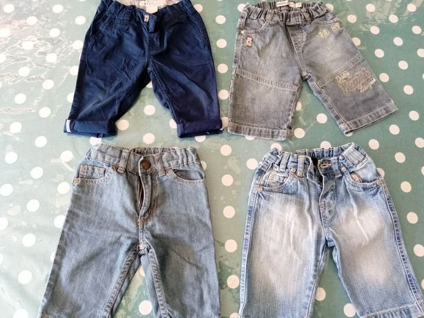 Lote 4 jeans  12 meses
