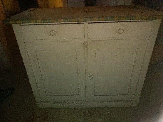 Kredens kuchenny i szafka wisząca do kompletu