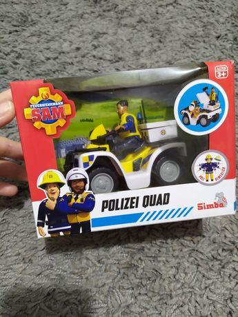 Strażak Sam policjant Malcolm quad policyjny