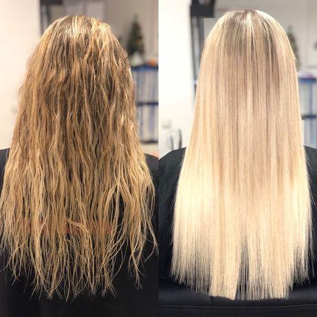 Наращивание волос, кератиновое выпрямление волос, ботокс для волос