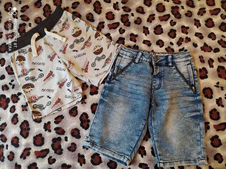 Джинсовые шорты для мальчика 128см