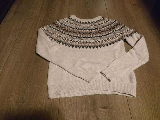 Piaskowy sweter XS H&M