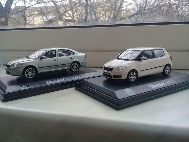 Skoda Octavia A5 & Fabia New 1/43 Abrex (2шт одним лотом)