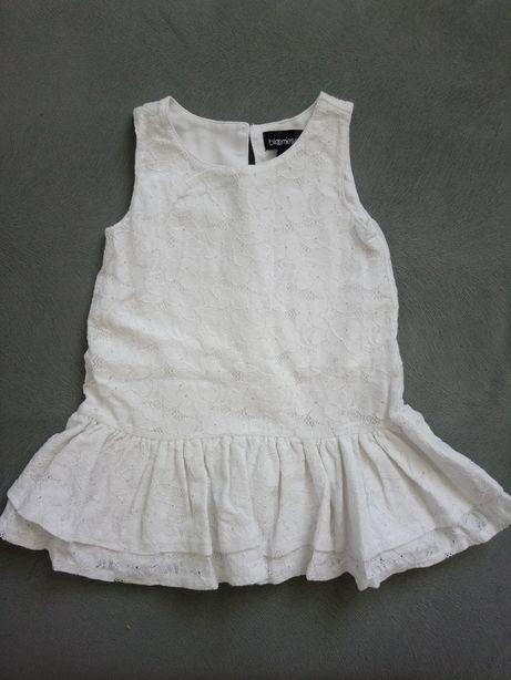 Bloomies girl sukienka elegancka 86 uroczysta biała chrzciny