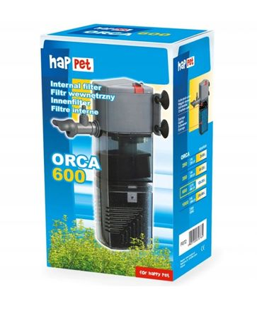 Filtr Orca 600 do akwarium 120-200l. Deszczownia wegiel aktywny