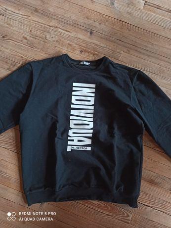 Кофта реглан свитшот черный с принтом, с надписью