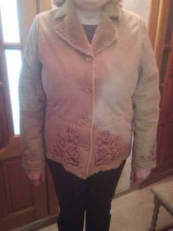 Куртка, женская весене-осенняя, искуственны мех. XL 50р