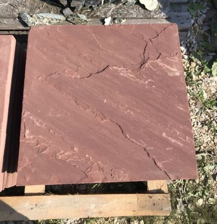 PIASKOWIEC CZERWONY Płyty Cięte 60 x 60 cm na Elewację Obłożenie ŁAZY