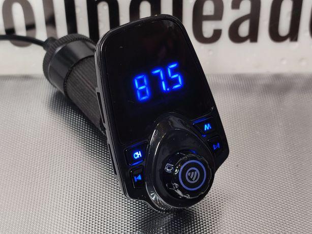 Transmiter bluetooth FM duży wyświetlacz 2x USB ładowarka odtwarzacz
